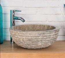 vasque sde parentale en marbre gris taupe