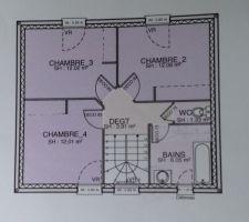 notre toute petite motif sur le plan de l etage