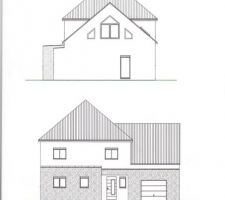 plans facade et pignon droit