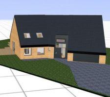 plan 3d de la maison a l aide du logiciel gratuit kozikaza