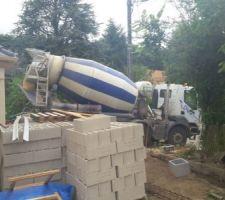 toupie pour les fondations des murs et cloture