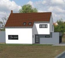 Implantation de la maison sur le terrain.