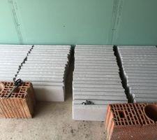 36m de bordure blanc pierre grisée