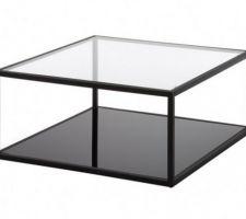 Idée déco : table basse verre et métal.