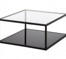 idee deco table basse verre et metal