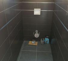 Faïence WC terminée.