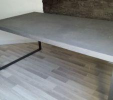 Idée déco qu'on va je pense retenir (merci Mikisa !) : meubles en béton ciré dans différentes nuances de gris (du clair à l'anthracite), avec piètements en métal.