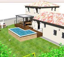 nouvelle disposition terrasse et jardin