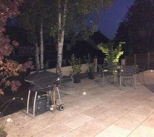 eclairage exterieur de la terrasse