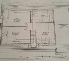 le etage et au dessus du garage il y aura 1 dalle beton pour un futur amenagement