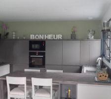 Spots de cuisine installés pour terminer notre cuisine que J ADORE:-)