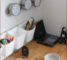 Bureau en cours et fonctionnel. reste les éléments au mur à installer (et à acheter).