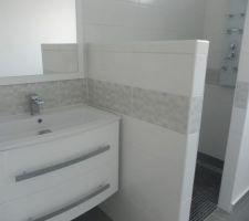 La salle d'eau du RDC