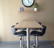 Bar posé. vive les repas dans la cuisine