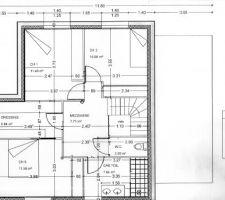 plan de l etagel entree dans la chambre 3 se faire par le dressing