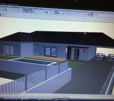 premiere vu 3d de la maison que nous voulons il reste des modifications a faire mais dans l ensemble ca va ressembler a ca