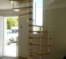Escalier en cours de montage