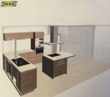 Simulation de la cuisine, achetée chez Ikea!