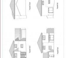 plan des facades