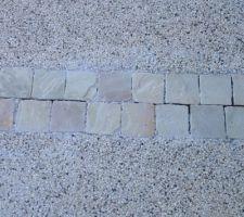 Rendu beton desactivé + pavés grès