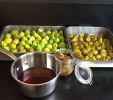 Récolté de figues et confiture
