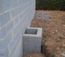 entrée vide sanitaire + raccordements