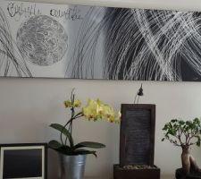 Mes belles orchidées! Et mon bonsaï qui fait un peu la tête