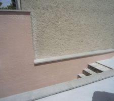 enduit mur de separation voisin escalier arriere