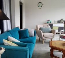 La deco enfin finie de mon salon qui sera la même dans la future maison !