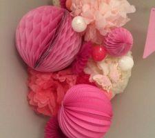 Bouquet rose de la chambre de bébé