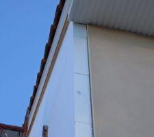 Mise en place du Viroc et isolation par l'extérieur du pignon.