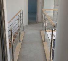 Pose escalier et garde corps