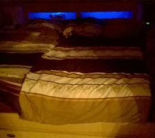 Éclairage de la niche du lit
