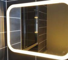 Pose du miroir lumineux