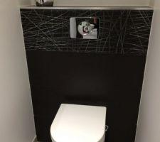 Pour jouer le jeu :) les wc du rdc