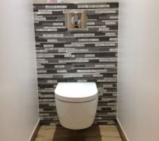 Photos et id es wc sol carrelage 850 photos - Modele de carrelage pour wc ...