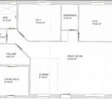 Voici le plan de la maison.