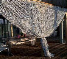 Terrasse : rideau pergola bois