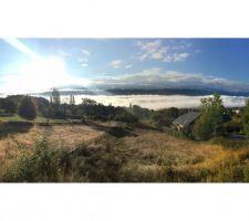la vue de notre future terrasse le matin au cafe