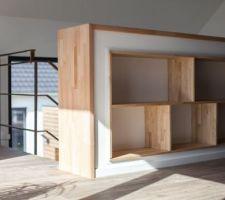 rangements niches en bois fait maison