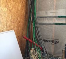 Arrivées des câbles courant faible
