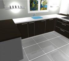 Petite modif sur le projet cuisine : ajout d'un meuble de 30cm à gauche de l'évier