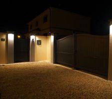 eclairage du portail