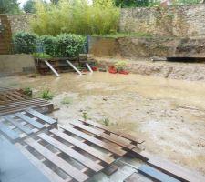 Terrain gorgé d'eau après le déluge du mois de mai !