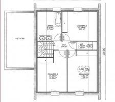 plan propose par le constructeur pour l etage