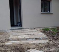 escalier provisoire en pierre de souppes la classe