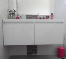 double vasque salle de bain etage