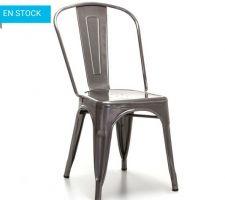 Chaise modèle 1 (acier brossé).