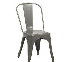 Chaise modèle 2 (laque grise).