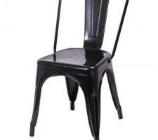 Chaise modèle 3 (laque noire).